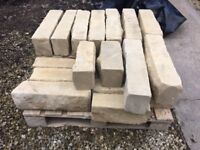 2 sq m 140mm Random stone walling