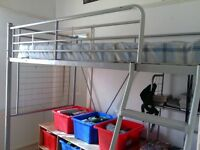 Loft Bed / Captain's Bed with underneath desk, and mattress
