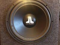 JL Audio Car sub woofer with Genesis amplifier