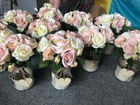 Set of wedding centre pieces/flowers/table decorations