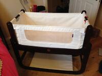 Baby Crib - Snuz Pod Espresso + Mattress + Matress Protector