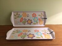 Two pretty serving trays