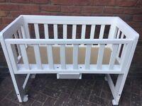 Troll Bedside Crib / Co Sleeper adjustable height Crib