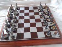 American Civil War - Union verses Confederate Chess Set