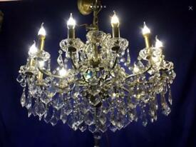 Stunning large 12 light chandelier