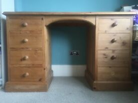 Quality, solid, pine dressing table/desk with or without mirror