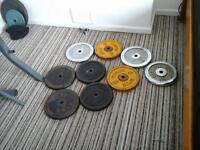 105 kg of metal weights