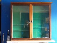 victorian glass-fronted display Cupboard