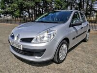 2007..Renault Clio 1.2 16v Expression 5dr A/C1.2..NEW FULL MOT..NEW OIL+FILTER..SILVER..FSH..VGC.
