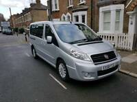 8 seater family car,Fiat scudo panorama 2008