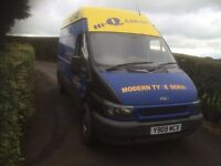 FORD TRANSIT T350 LWB - TURBO RWD - CHEAP £390 NEEDS WORK