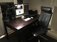 Classic creative black table desk