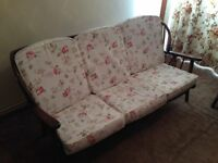 Cottage Style 3 Seater Sofa and Matching Rocking Chair