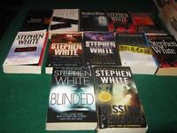 Stephen White books $1 each or $10 for the lot