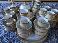 Denby Dinner set, incl cups, plates, teapot, coffee pot, serving dishes,