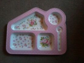 Floral Cath Kidston sectioned tray