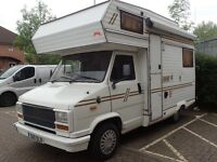 Dual-fuel petrol & LPG Fiat Ducato camper van / motor home, with solar panels
