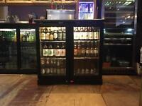 Black Double Door Bar Display Cooler