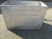Vintage Retro Walls Ice Cream Metal Tub Box Planter Unusual Tin