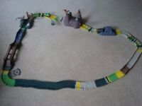 ELC Dino track - plus extra track and cars £20