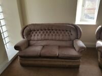 Grey 3 piece sofa