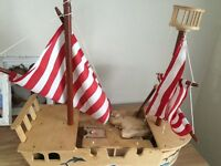 Pirate ship wooden