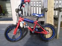 "Kids Spiderman 14"" Bike - used but great condition"