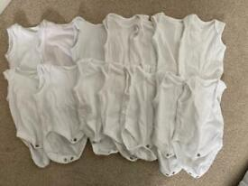 14 x Mothercare New Baby vests