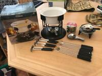 Trundeau cheese fondue set