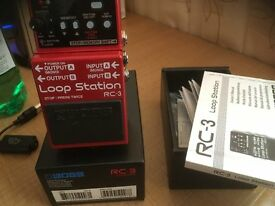 BOSS RC-3 Loop Station Effects Pedal - New not used