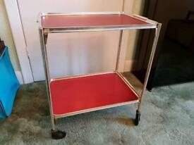"Vintage retro ""Woodmet"" two tier 1950s trolley"