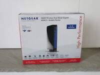 NETGEAR DGND3700 600 Mbps Wireless Dual Band Gigabit, ADSL2+ Modem Router