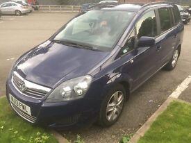 Vauxhall Zafira 1.6 i VVT 16v Exclusiv 5dr 2013 5 or 7 Seater Navy Blue