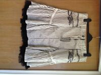 Joe Browns Black and white skirt, net trim, BNWT, size 16