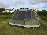 Outwell Montana 6P, footprint, carpet and Front Awning.