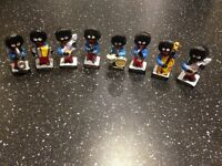 Robertson Jam figurines Golliwogs musicians - Used - collectable set of 8 musicians