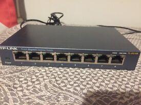 TP-LINK 8 Port Gigabit Desktop Switch - TL-SG108
