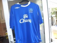 2 EVERTON FC TOPS PLUS SPORTS COAT SIZE S/M £20 THE LOT