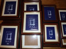 20 x Victorian Cedar Moulding frames all with glass various sizes as text.
