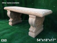 Garden benches & furniture, bird baths, planters & water features