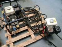 Petrol pressure washer and petrol generator mains .Honda 200