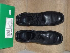 Black Soft Leather Clarks Lace Up Ankle Boots - Unworn - Size 5 1/2