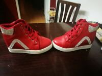 Red trainers