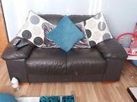 3&2 leather sofa