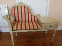 Beautiful Vintage Chair - Shabby Chic Vintage Phone Table