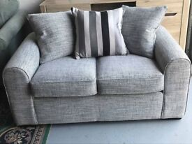 Brand New, Stunning Grey and White Mottled 2 Seater Sofa