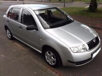 2003 SKODA FABIA COMFORT 16V, LOW 36000 MILEAGE ,JUST DONE A SERVICE, 1 YEAR MOT