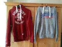 2 X Small men's Superdry hoodies(Good condition)