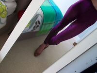 purple sexy used leggings XS (CASH ONLY IN PERSON at my tube station SE16 7DX London)