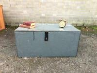 GENUINE VINTAGE TRUNK WOODEN CHEST FREE DELIVERY STORAGE BOX 🇬🇧